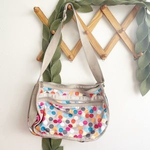 Lesportsac Large Polka Dot Multi Color Bag